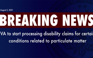 VA to begin processing disability claims for Particulate Matter Exposure
