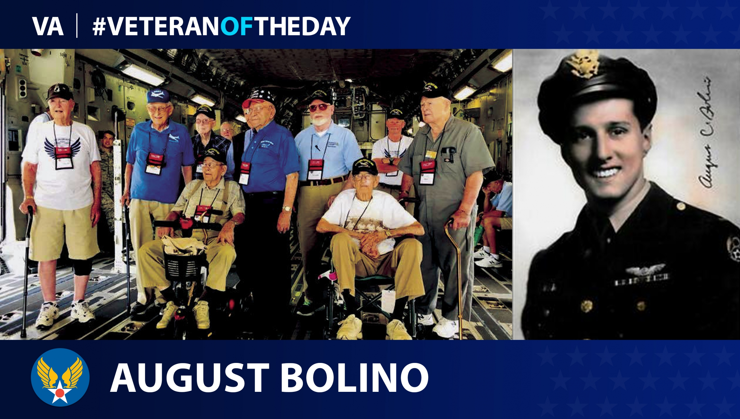 Army Air Forces Veteran August Bolino is today's #VeteranOfTheDay