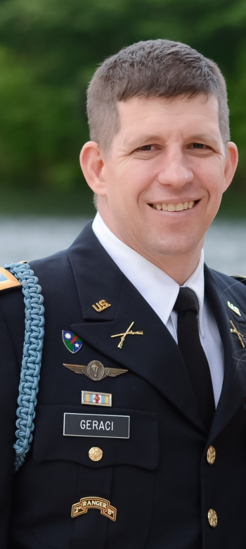 Geraci, an Army Veteran, deployed four times to Afghanistan and earned multiple honors, including the Bronze Star, the Air Medal, and Combat Infantryman Badge.