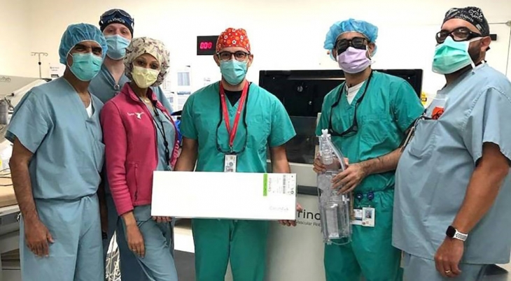 Cardiology team in operating room