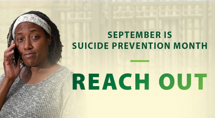 Suicide prevention reach out banner