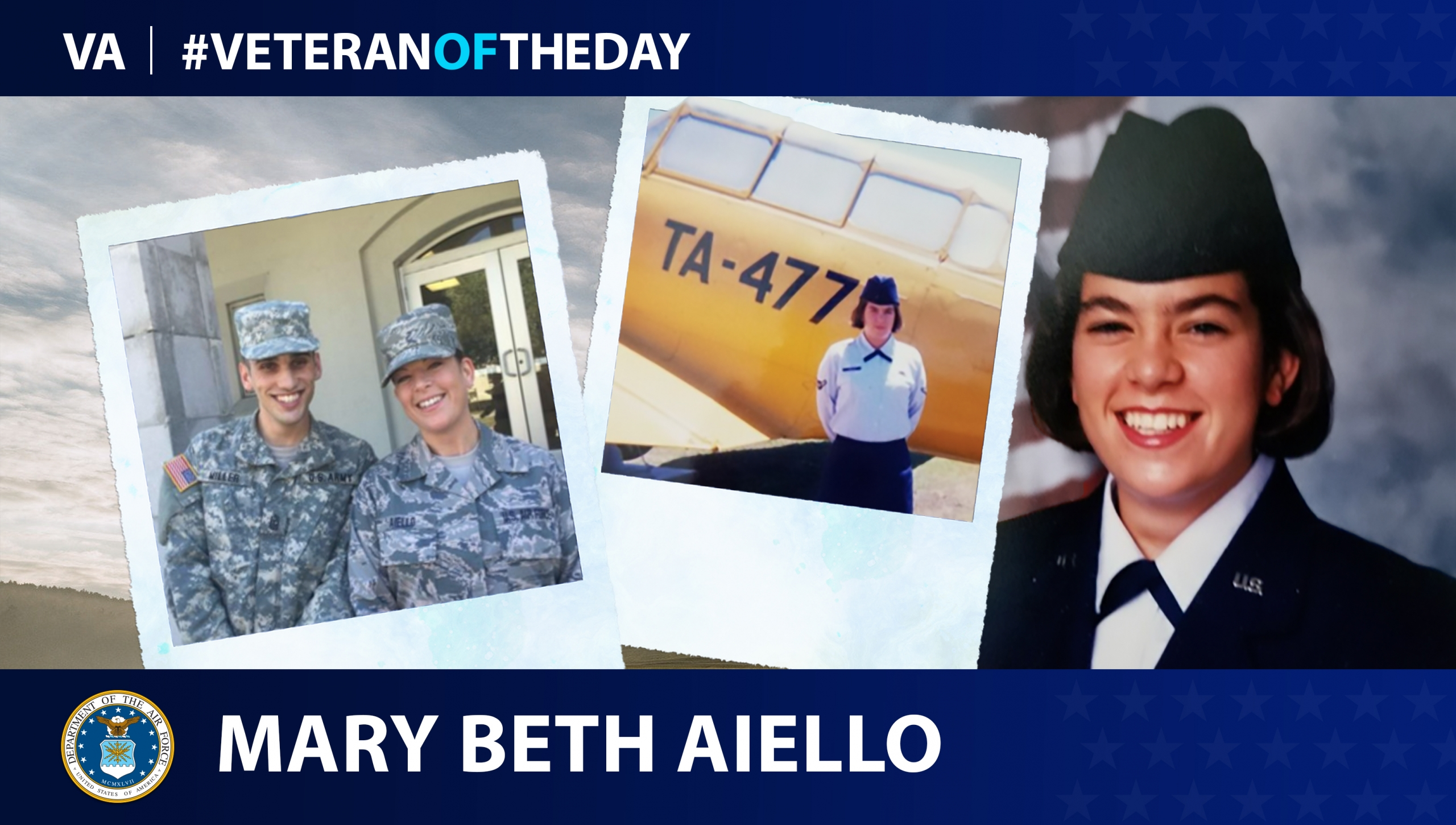 Air Force Veteran Mary Beth Aiello is today's #VeteranOfTheDay.