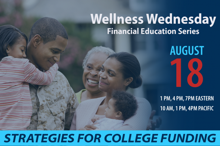 Wellness Wednesdays seminar for Aug 18 on paying for college