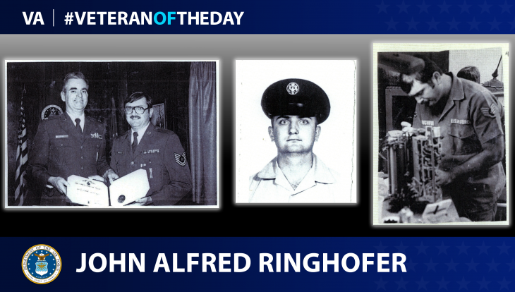 Air Force Veteran John Alfred Ringhofer is today's #VeteranOfTheDay.