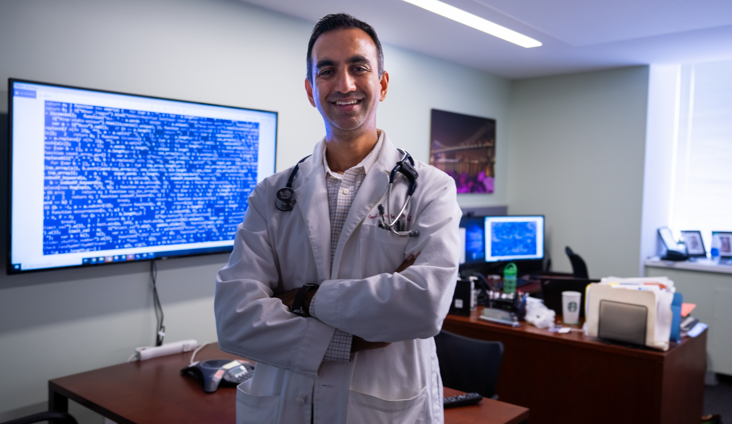 Dr. Amol Navathe is a physician, health economist, and engineer. Among other areas, he has expertise in applying informatics and predictive analytics to health care. (Photo by Sam Shavers)