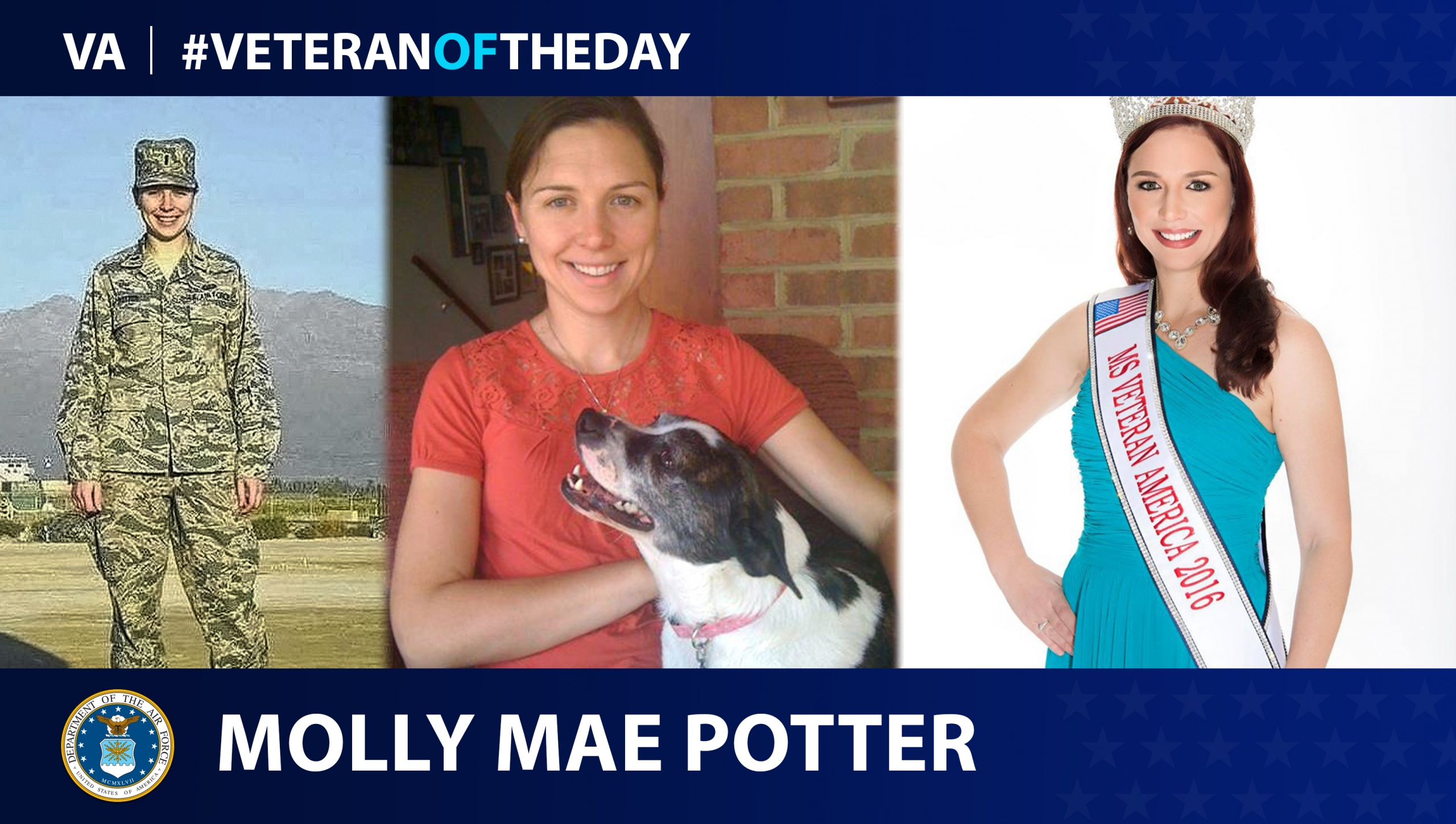 Air Force Veteran Molly Mae Potter is today's #VeteranOfTheDay.