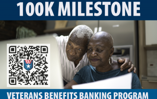 100K Veterans have switched to direct deposit.