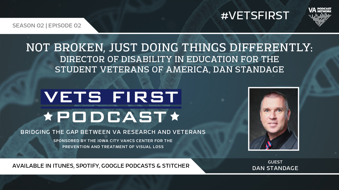 In the opening of season two interviews of Vets First Podcast, Levi and Brandon welcome Marine Veteran Dan Standage.