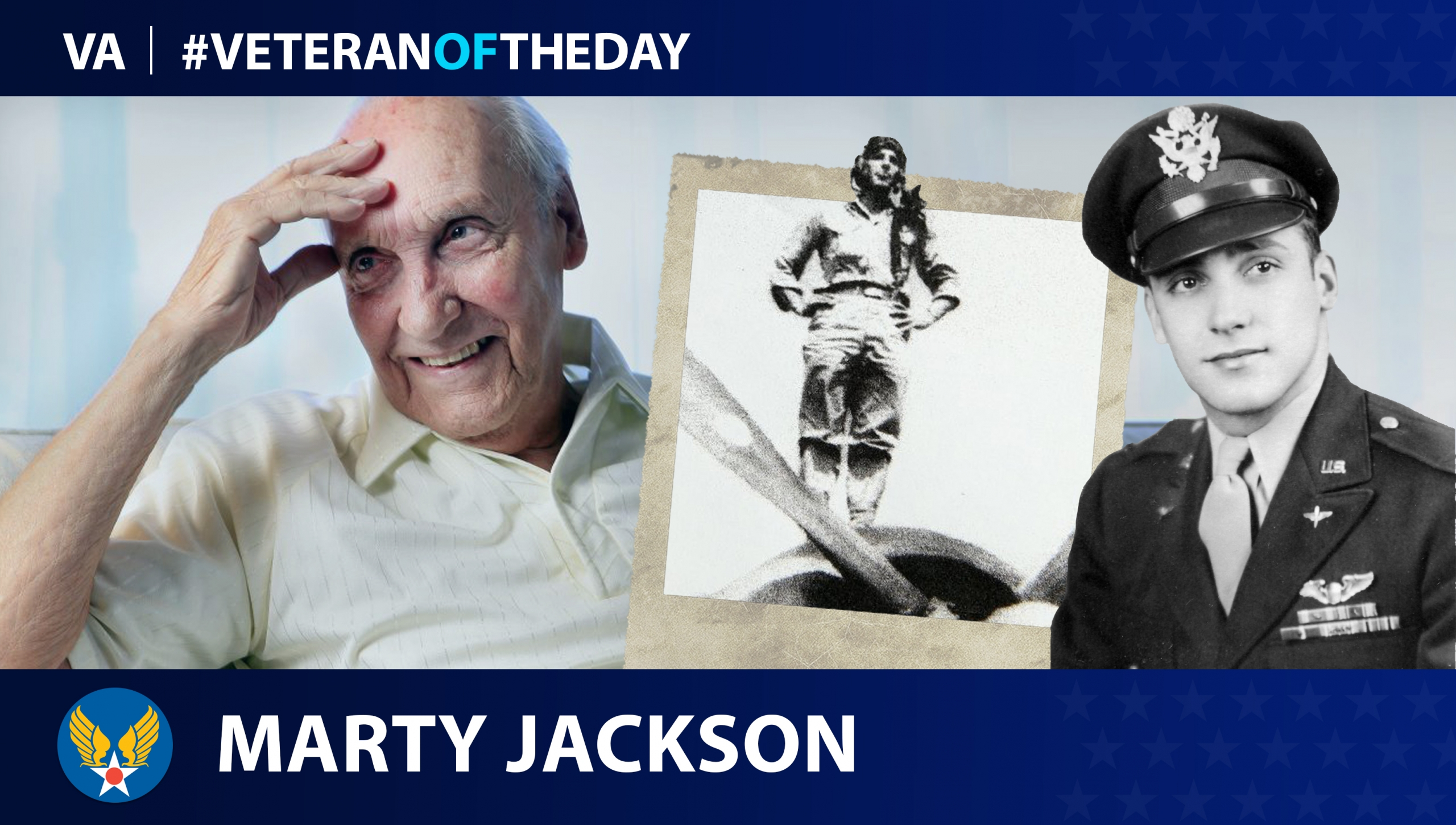 Army Air Forces Veteran Marty Jackson is today's #VeteranOfTheDay.