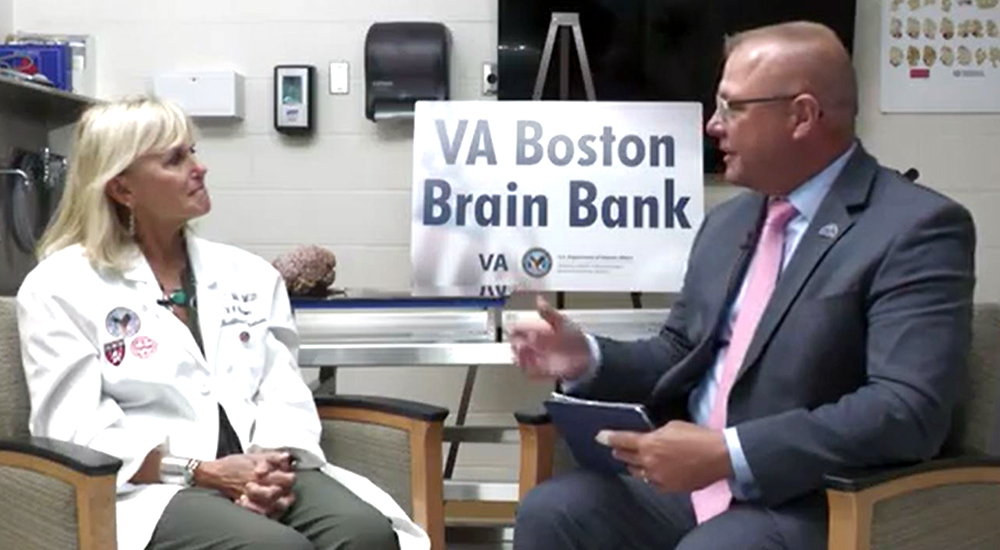 VHA Chief of Staff Jon Jensen sits down with Dr. Ann McKee on the Chats with the Chief (CWTC) set